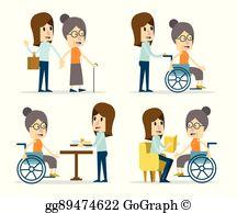 Elderly Care Clip Art.