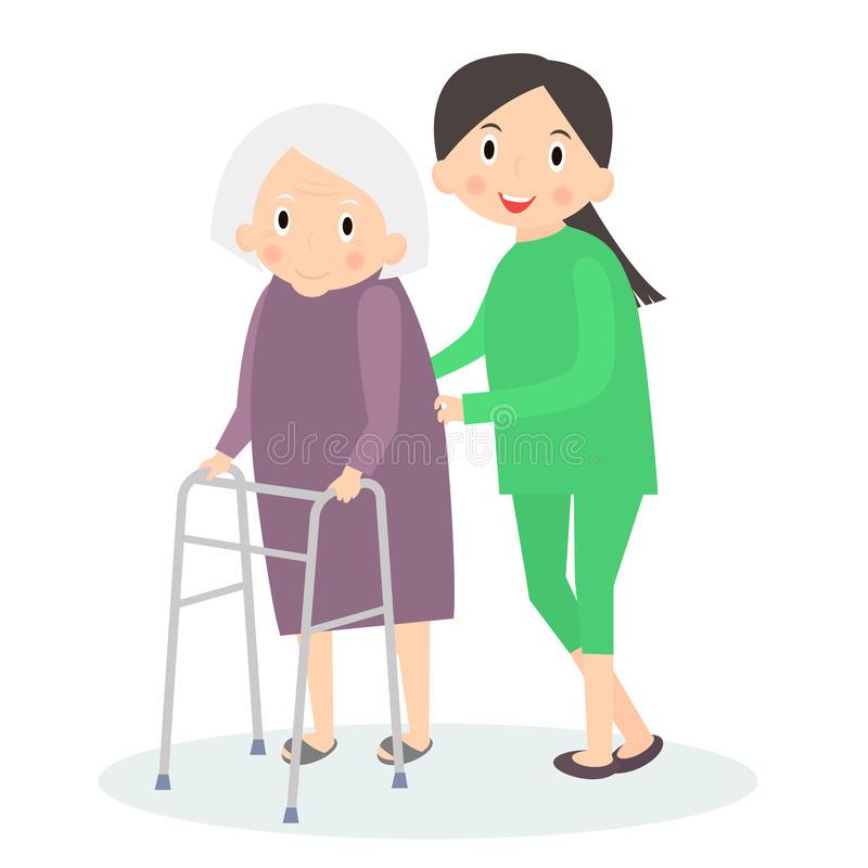 Elderly Care Stock Illustrations.
