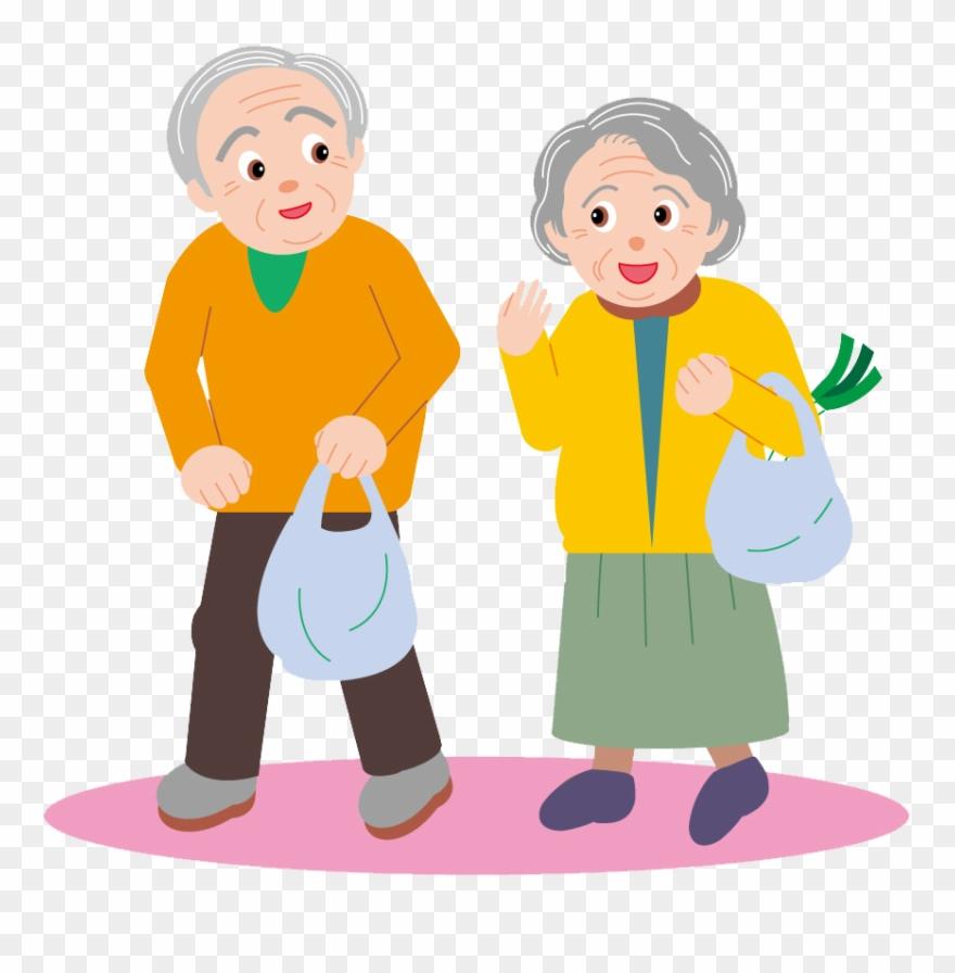 Couple Drawing Cartoon Clip Art Elderly.