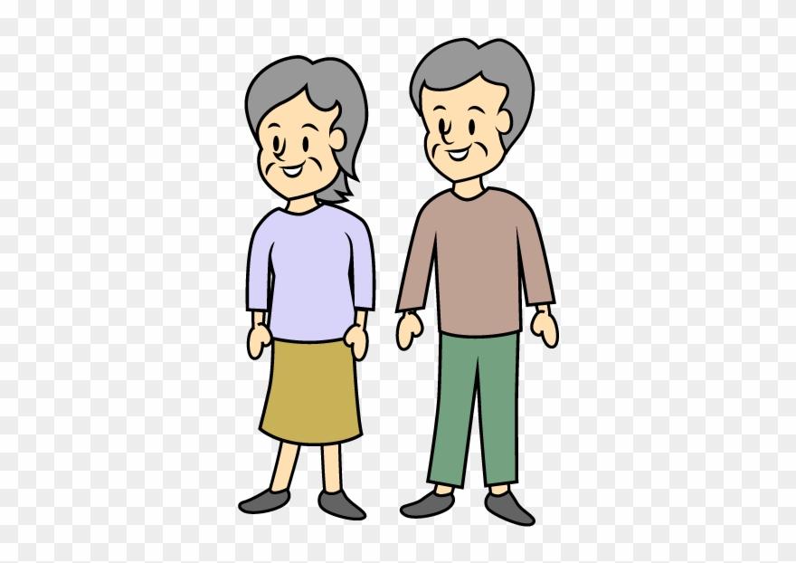 Clipart Walking Elderly.
