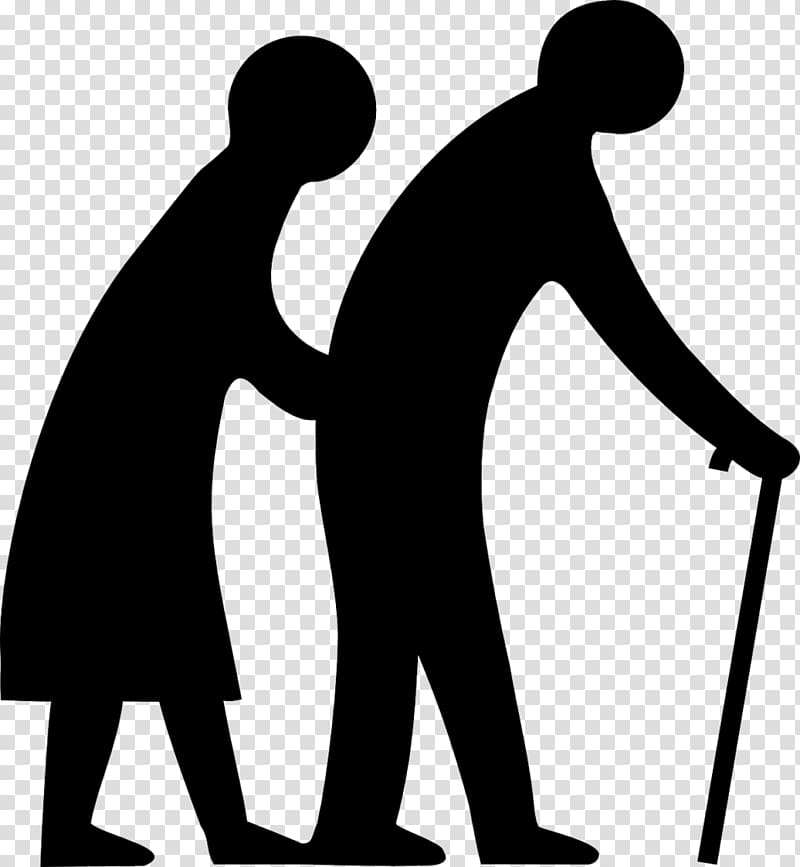 Old age Ageing Aged Care Grandparent , silhouette of the elderly.