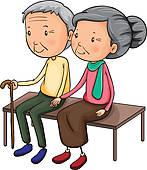 Royalty Free Elderly Couple Clip Art.