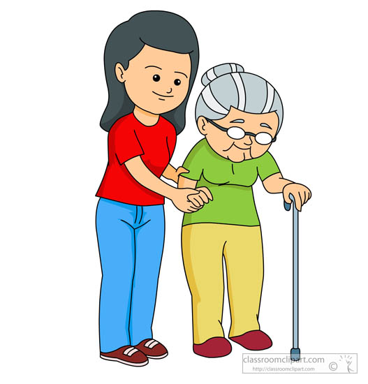 Helping The Elderly Clipart.