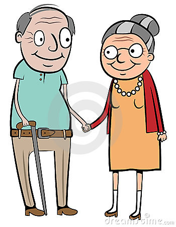 Old couple clipart #7