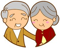 Old couple clipart #2