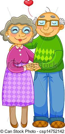 Free clipart elderly couple.