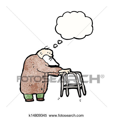 Cartoon elderly man Clipart.