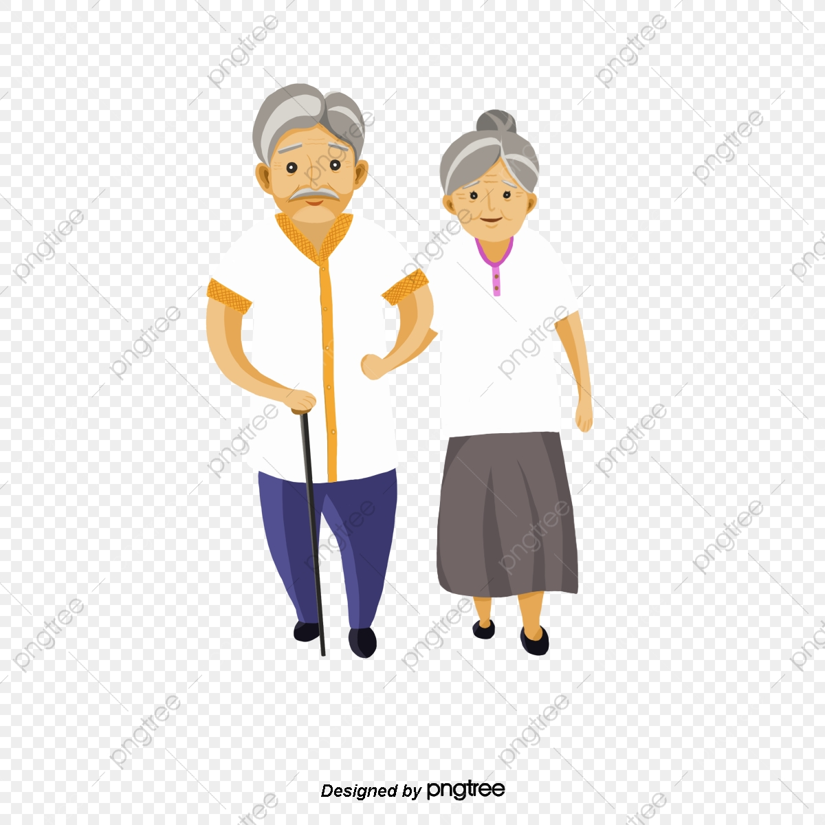 A Pair Of Old People, People Clipart, Old Couple, The Elderly PNG.