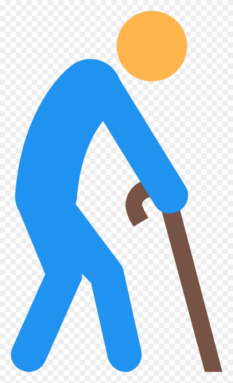 Elderly Person Icon.