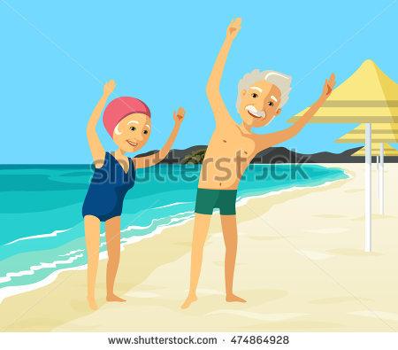 Elderly Swimming Stock Vectors, Images & Vector Art.