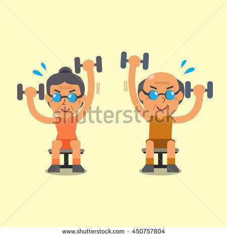 Elderly Exercise Stock Vectors, Images & Vector Art.