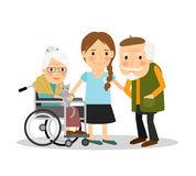 Caregiver Stock Illustrations.