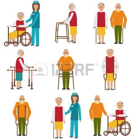 409 Helping Elderly Cliparts, Stock Vector And Royalty Free.