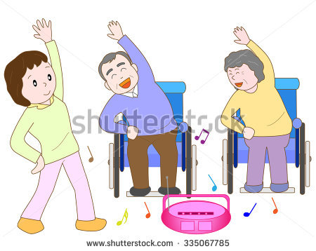 Chair Exercise Stock Images, Royalty.