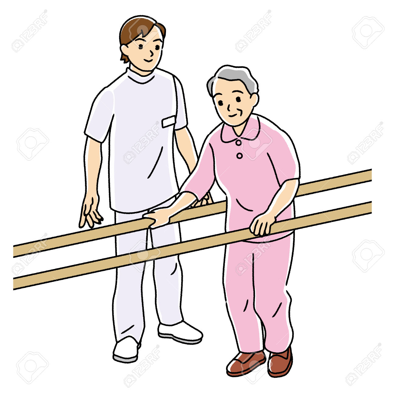 Physical Therapist To Carry Out The Rehabilitation Of The Elderly.