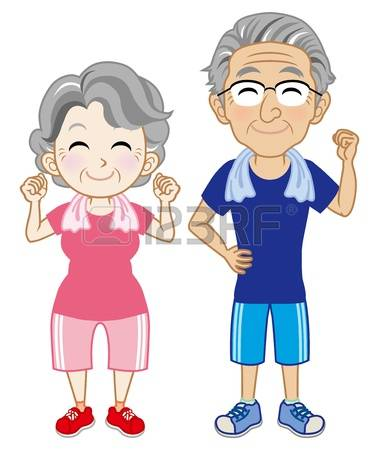 1,363 Elderly Exercise Stock Vector Illustration And Royalty Free.