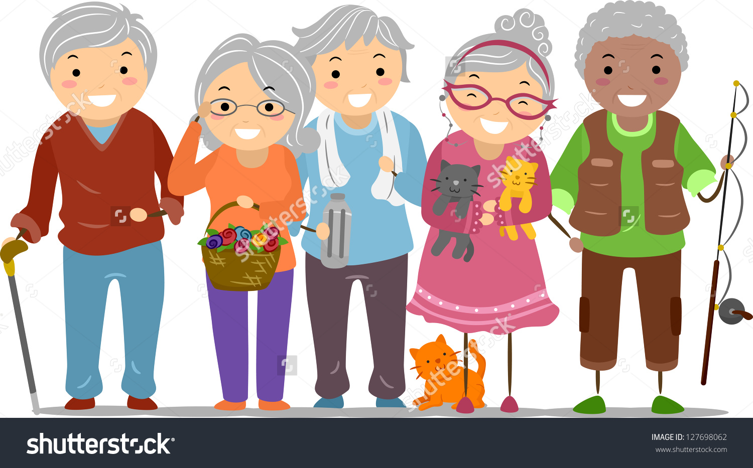 Group Of Old People Clipart.