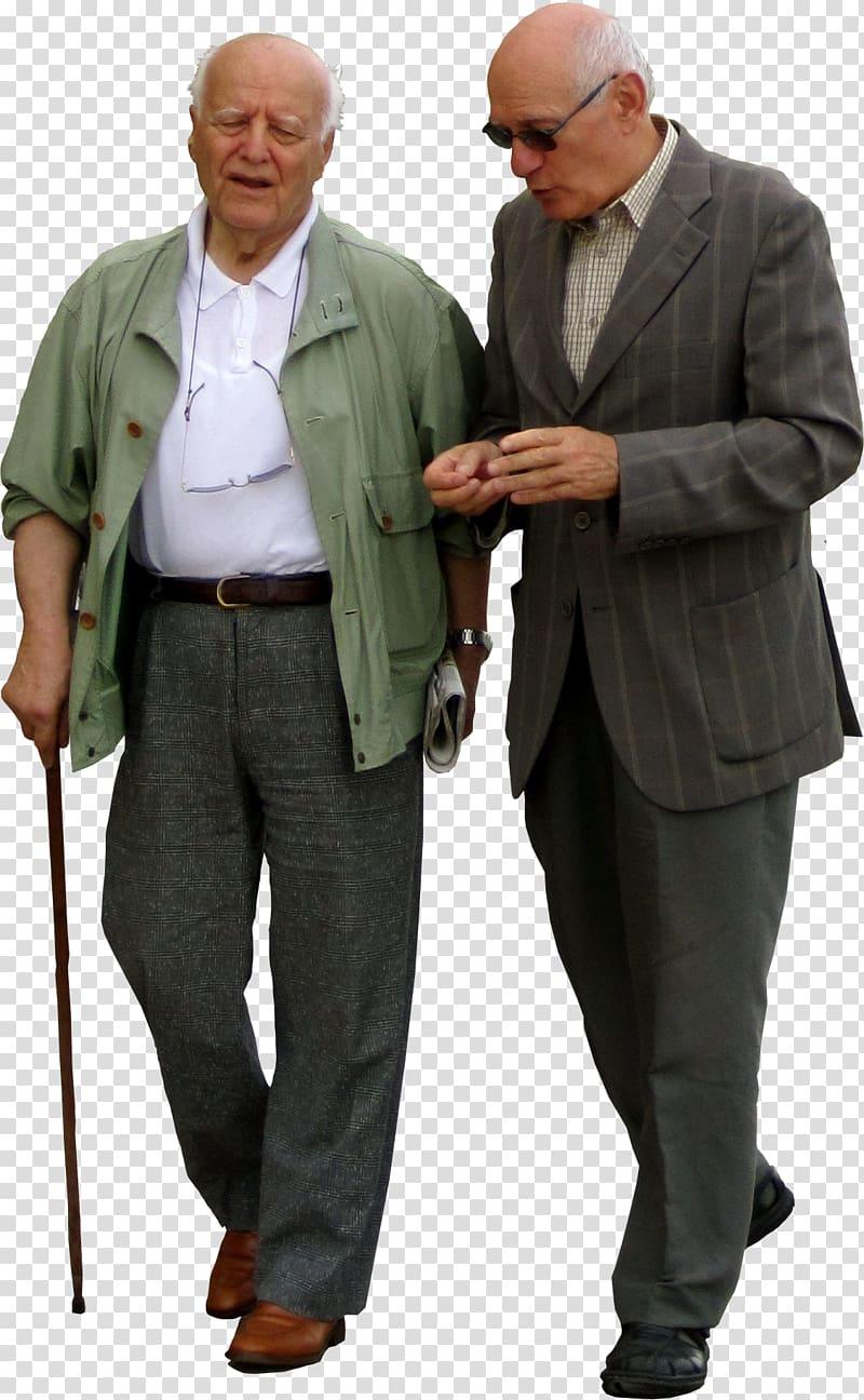 Kaestle&ocker Walking Old age elderly, people transparent background.
