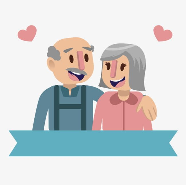 Elderly Couple PNG, Clipart, 2 People, Business, Cartoon, Cartoon.