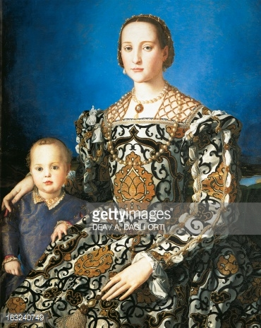 Portrait Of Archduchess Maria Maddalena Of Austria With Her Son.