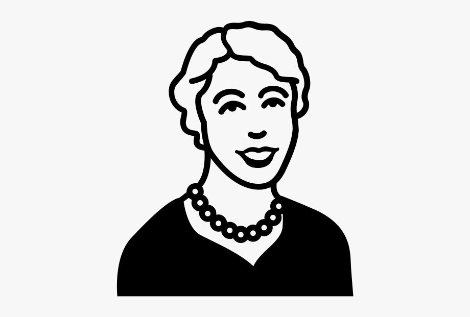 Eleanor Roosevelt Easy Drawing , Transparent Cartoon, Free.