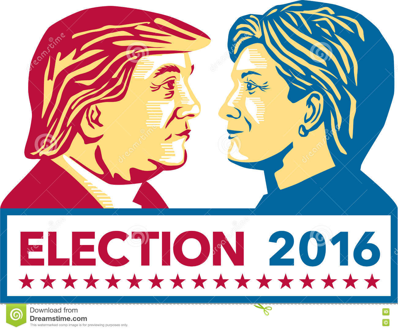 Presidential Election 2016 Clipart.