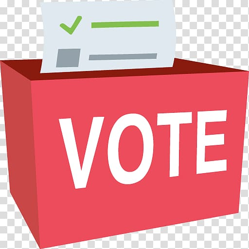 Ballot box Early voting Election, send email button transparent.