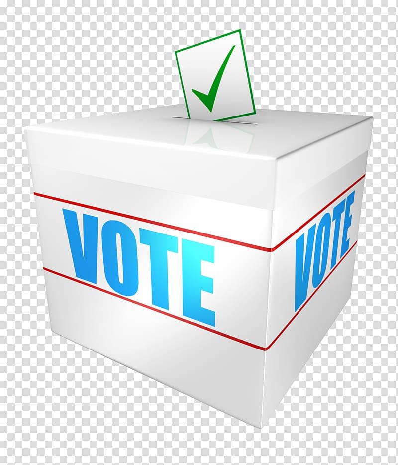 Vote box illustration, By.