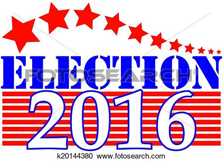 Clipart of Election 2016 Graphic k20144380.