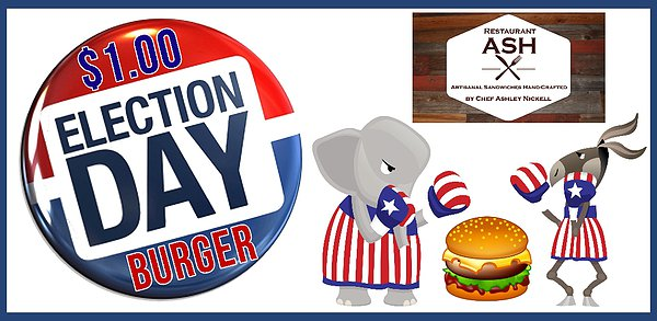 $1.00 Election Day Burger.