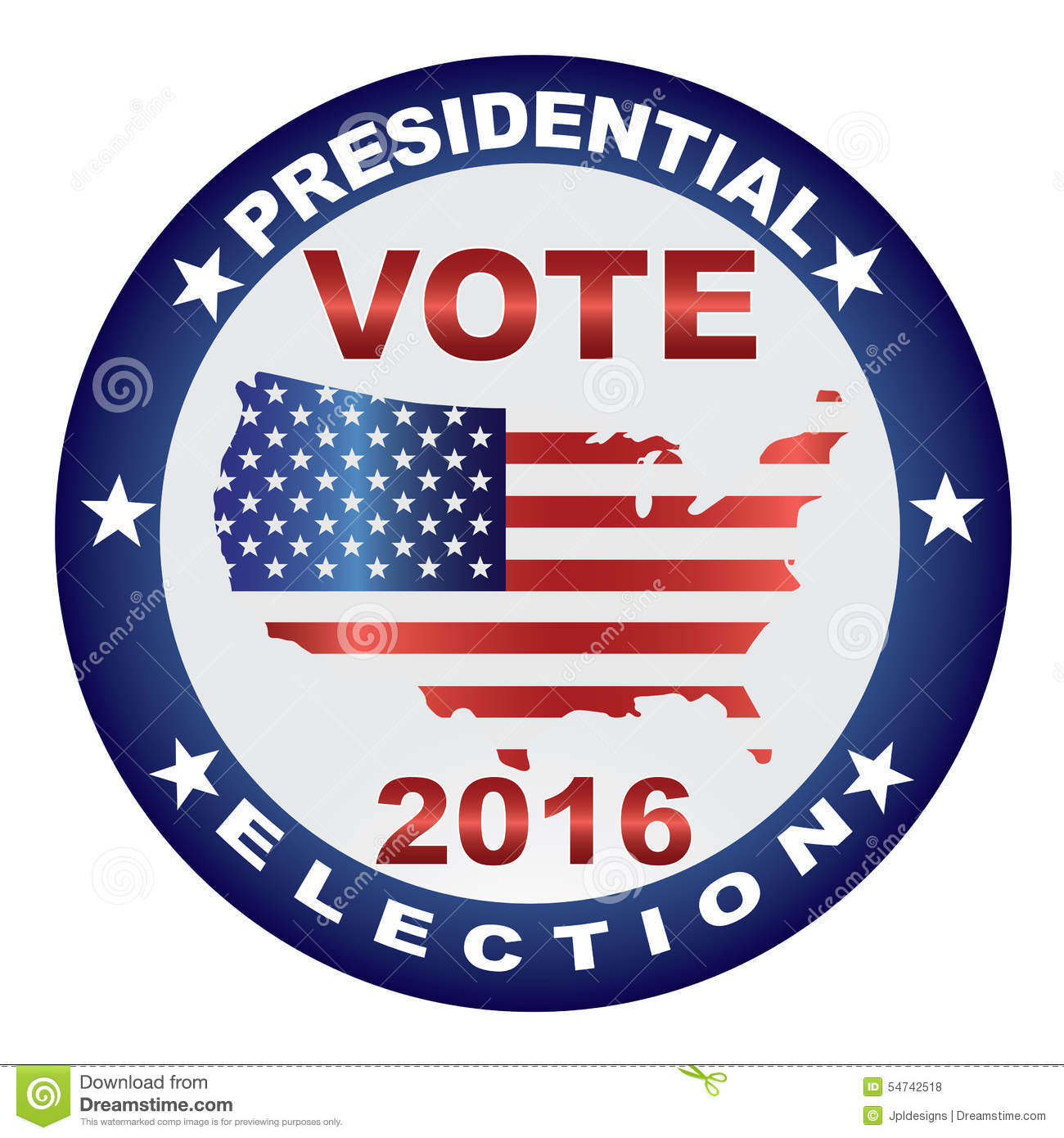 Presidential Election Day 2016 Stock Photo.