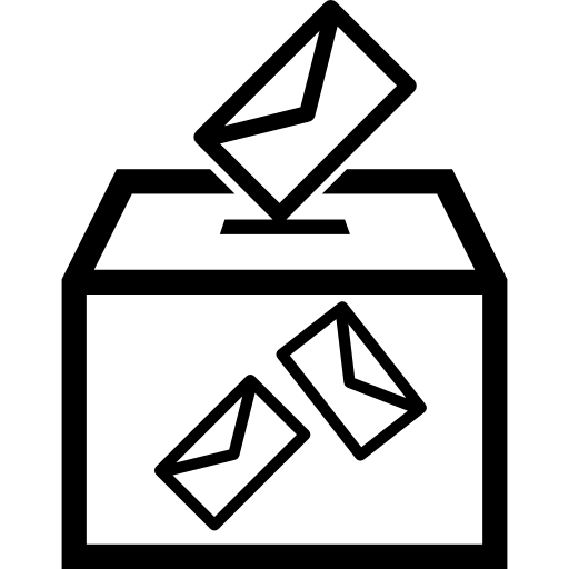 Election envelopes and box Icons.