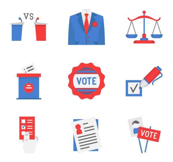 50 election icon packs.