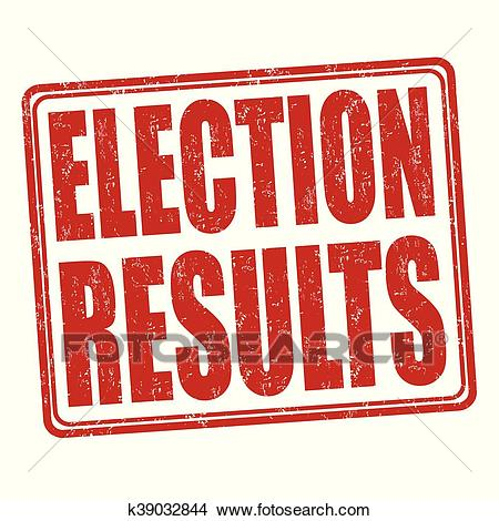 Election results stamp Clipart.
