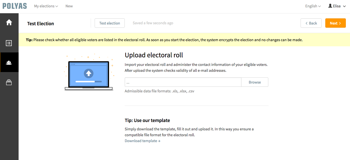 Create your Electoral Roll Online with POLYAS.