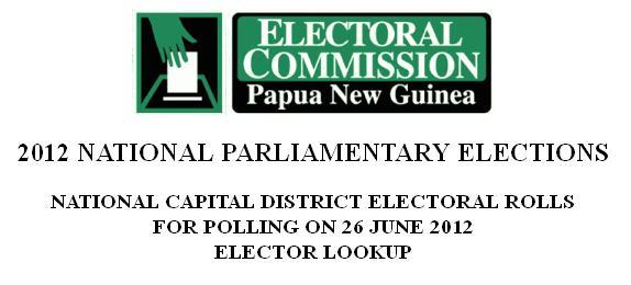 NCD 2012 Electoral Rolls Online.