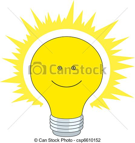 Vector Illustration of Bright electric bulb.