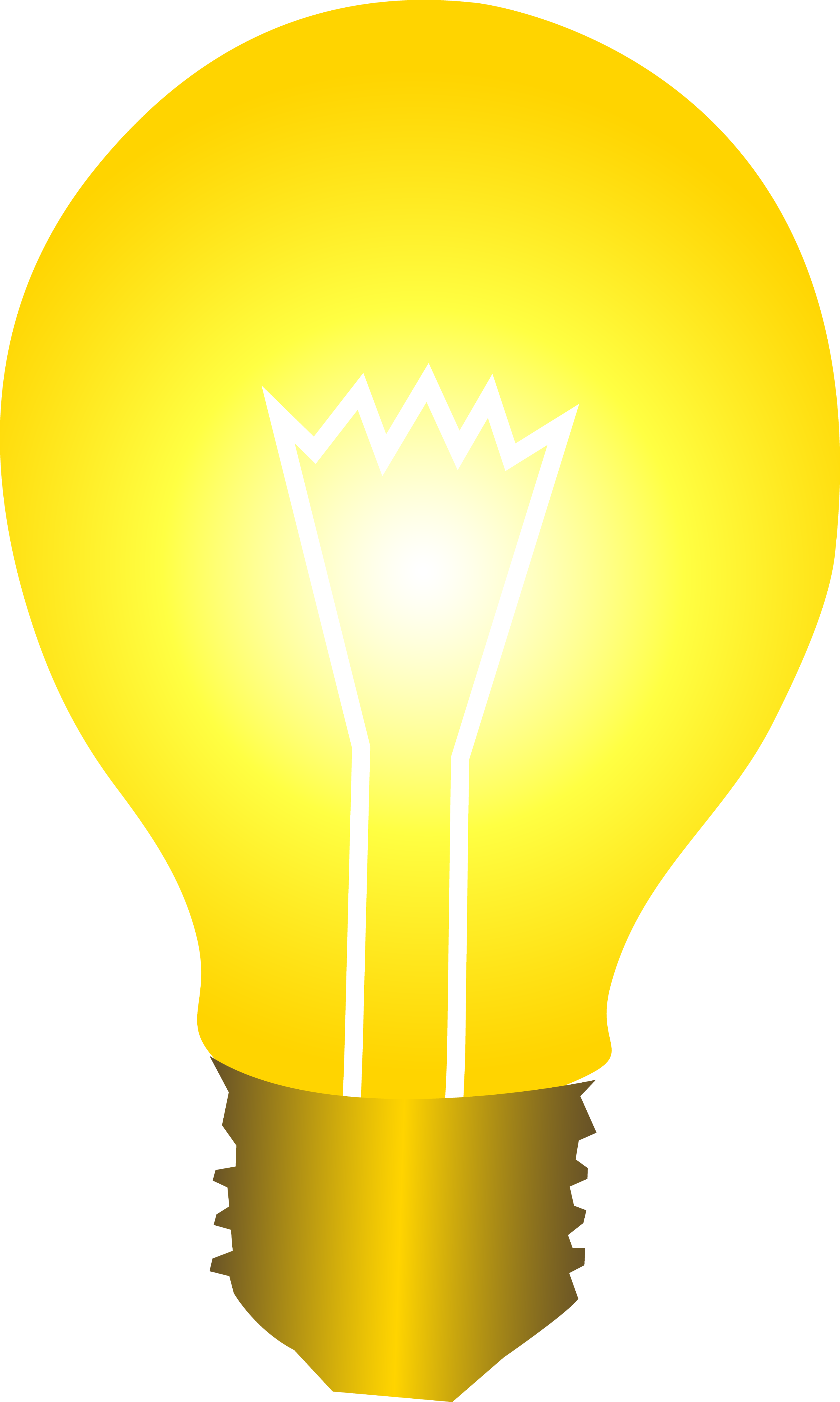 Bright Yellow Idea Light Bulb.