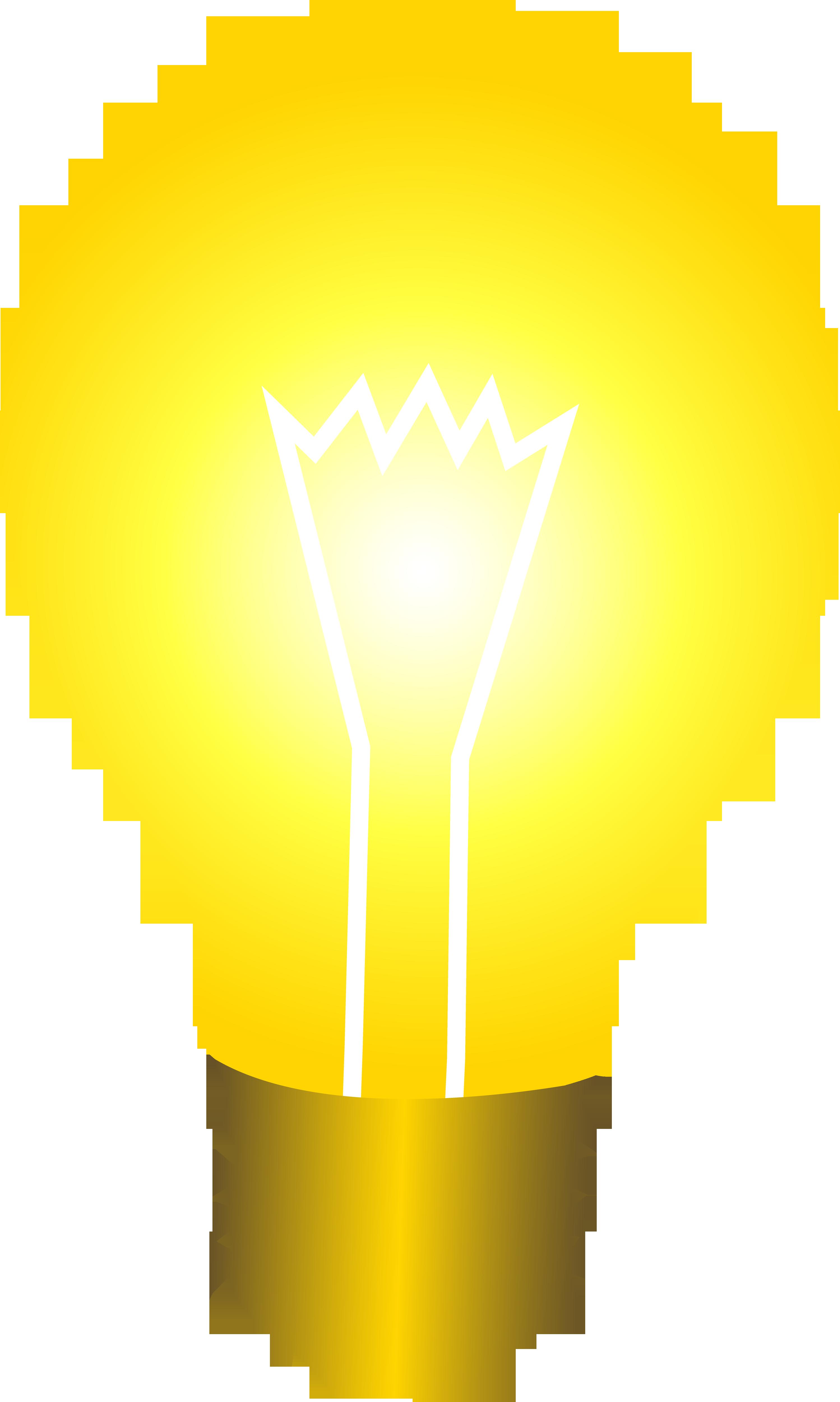 Bright Yellow Idea Light Bulb.