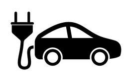 Electric Car Icon Stock Photos.