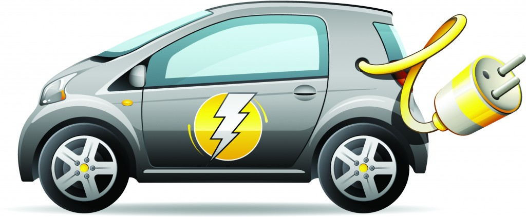 Electric car clipart.
