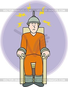 Clipart electric chair.