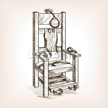 488 Electric Chair Stock Vector Illustration And Royalty Free.