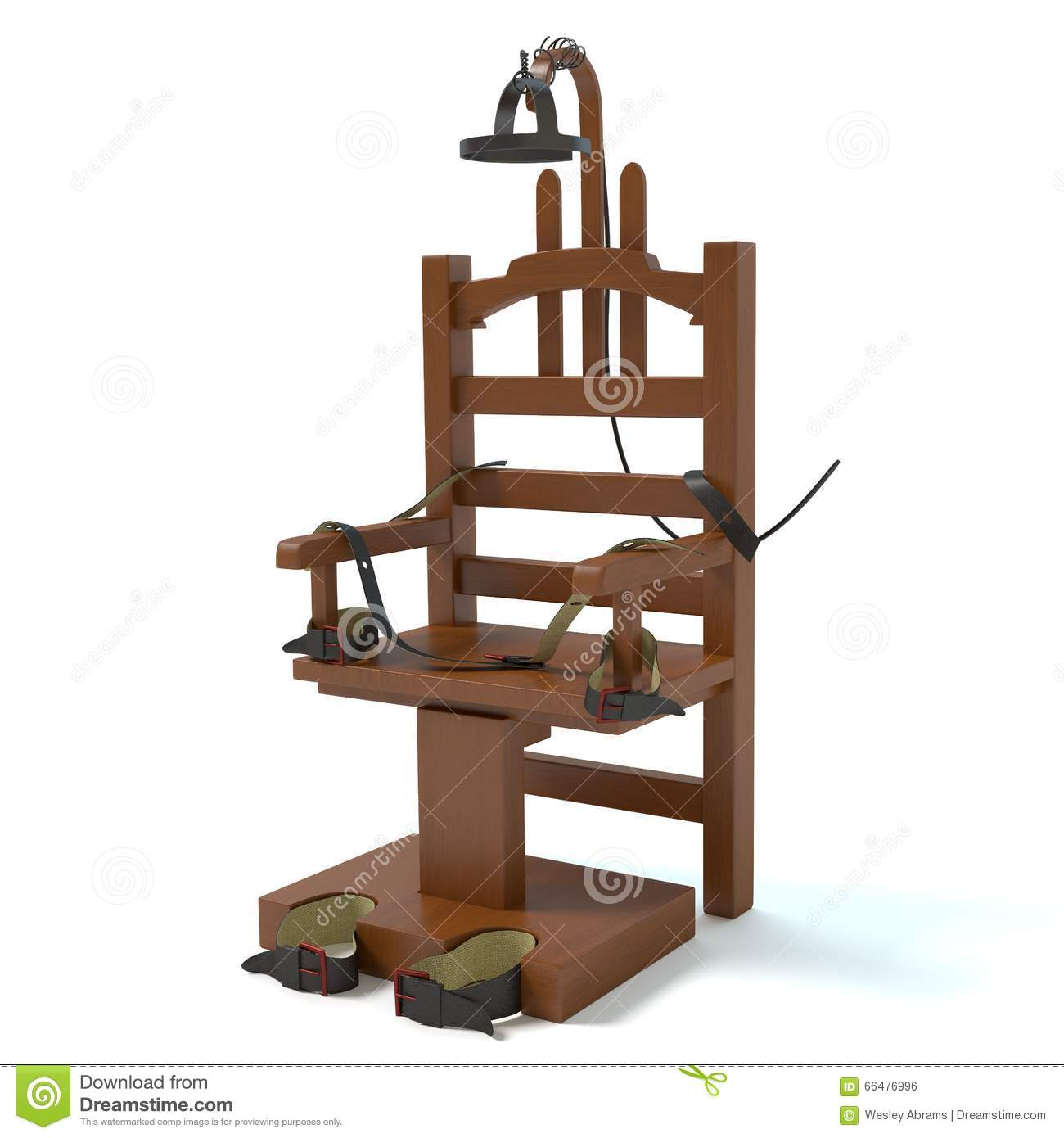 Electric Chair Stock Illustration.