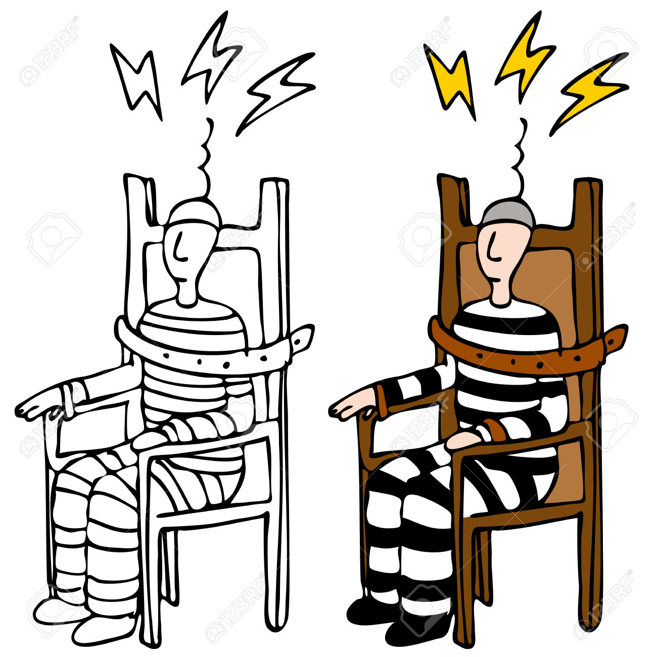 Electric chair clipart.