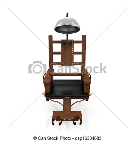 Stock Illustration of Electric Chair Isolated.