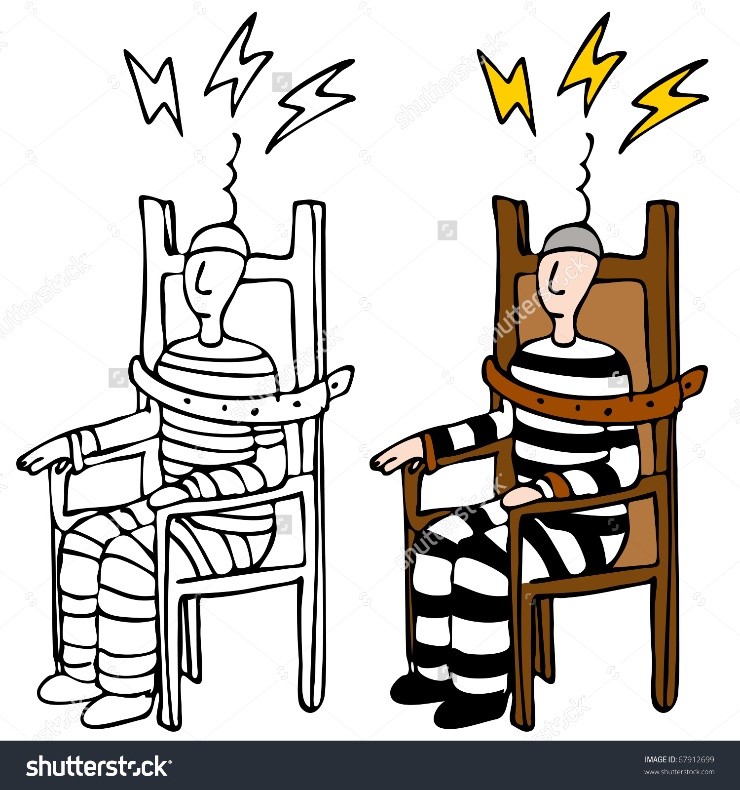Image Man Electric Chair Stock Vector 67912699.