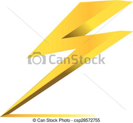 Clipart Vector of thunder electric charge symbol icon vector.