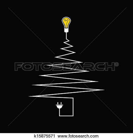 Clipart of Electric Christmas tree k15875571.
