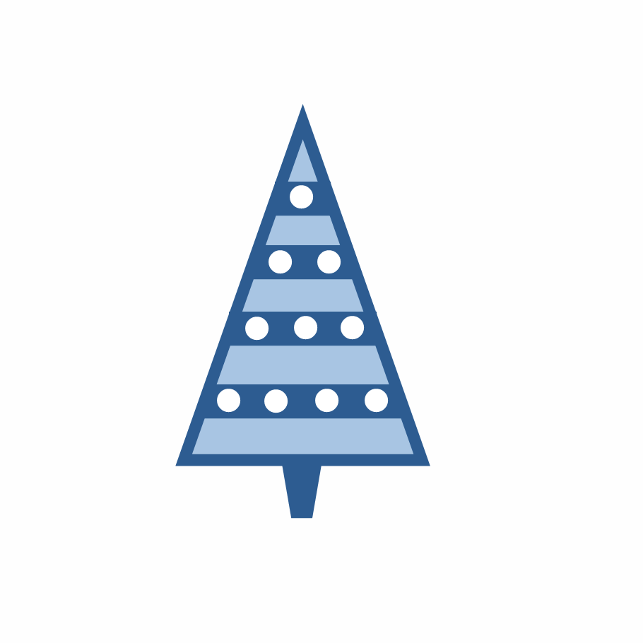Maroon christmas tree clipart.